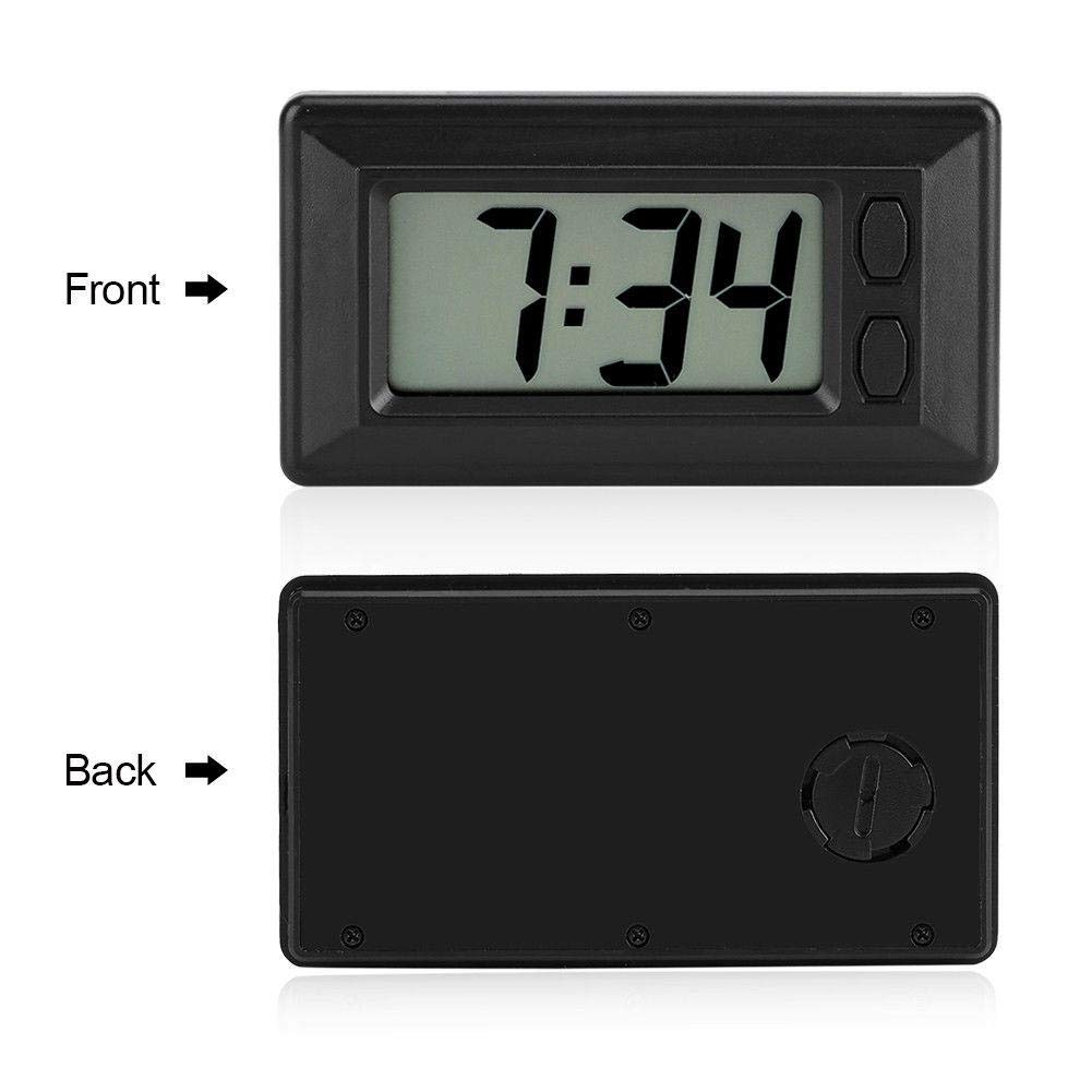 YOUNGFLY Digital Clock Ultra-Thin Time Data LCD Screen Display with Calendar for Car Dashboard SUV Truck Home