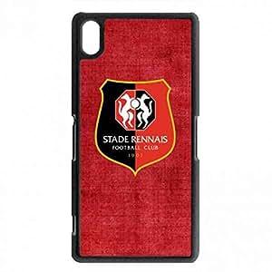 Red And Black Background carcasa de telefono, Stade Rennais Team Logo carcasa de telefono, Rennes Logo funda Cover, Soft TPU funda For Sony Xperia Z2 Cell carcasa de telefono