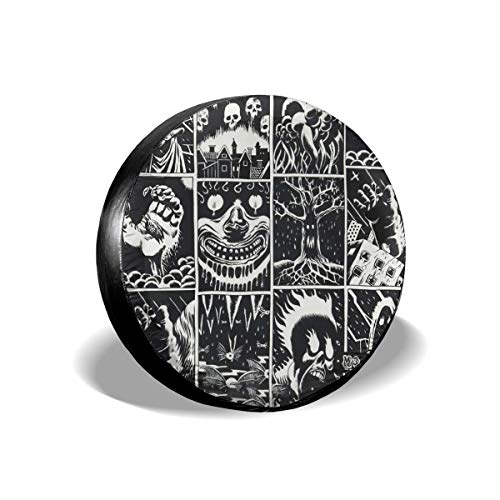 Feim-AO Halloween Animal Skull Horror Cartoon Spare Wheel Tire Cover 14