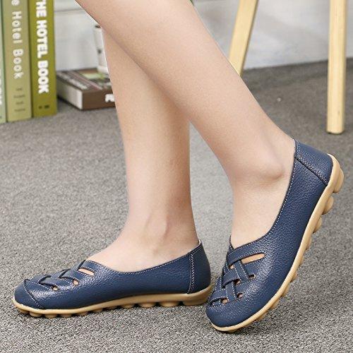 Navy Casual Loafer Flat VenusCelia Women's Deep Walking Comfort w1qtxZx06