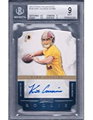 Kirk Cousins 2012 Panini Prominence Rc Autographed 365/499 #184 Bgs 9/au 10 - Panini Certified - Football Slabbed Autographed Rookie Cards