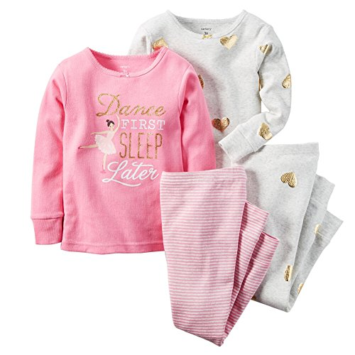 Carters Baby Clothing Outfit Girls 4-Piece Snug Fit Cotton PJs Dance First