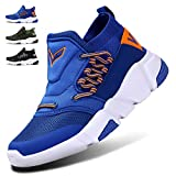 WETIKE Kids Shoes Boys Girls Sneakers Soft Knit Socks Shoes Lightweight Slip On Sports Shoes Tennis Running Walking School Casual with Wide Width No lace Blue Size 1