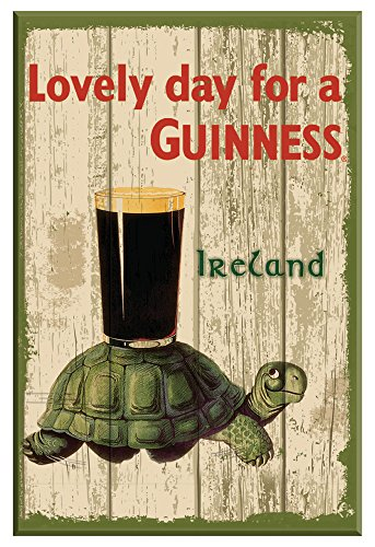 - Guinness Nostalgic Wooden Sign with Tortoise & Pint & Lovely Day For a