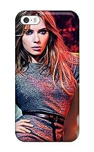 For Iphone 5/5s Tpu Phone Case Cover(scarlett Johansson Posing Brunettes Blue Eyes Celebrity People Women)