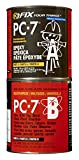PC Products PC-7 Epoxy Adhesive Paste, Two-Part Heavy Duty, 8lb in Two Cans, Charcoal Gray 128770