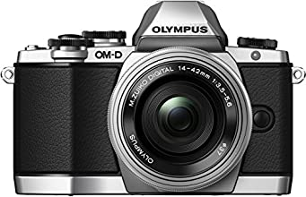 Olympus OM-D E-M10 Fotocamera Mirrorless 16 MP, Kit con Obiettivo M.Zuiko ED 14 - 42mm f3.5-5.6 EZ, Argento