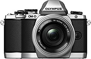 Olympus OM-D E-M10 with M.Zuiko ED 14-42mm 1:3.5-5.6 EZ Lens - Silver - International Version (No Warranty)