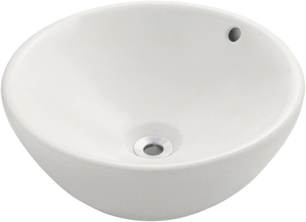V2200-B Bisque Porcelain Vessel Lavatory Sink