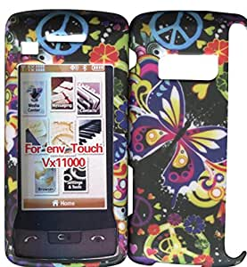 Butterfly & Peace LG enV Touch VX-11000 Verizon Case Cover Hard Phone Cover Snap on Case Faceplates