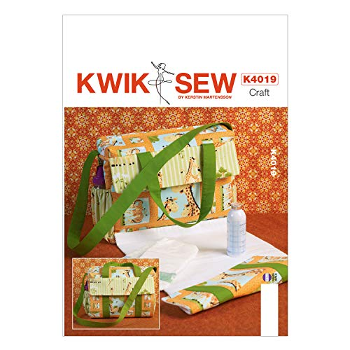 KWIK-SEW PATTERNS K4019 Diaper Bag Sewing Template, One ()