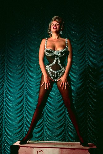 Jayne Mansfield busty in showgirl costume very buxom Poster
