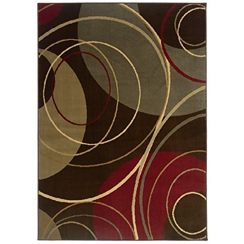Oriental Weavers Sphinx Amelia Circle Brown Rug 2'6