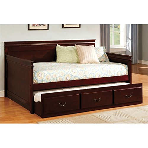 Cherry Daybed Trundle (Furniture of America Liam Twin Daybed with Trundle in Cherry)