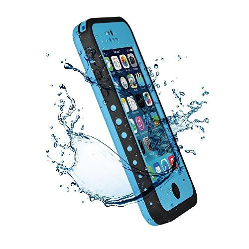 3C-Aone Waterproof Phone Case Cover For Apple iPhone 5C Shock-Absorbing Pumber Dirtproof (Blue) (Iphone 5c Diving Case)