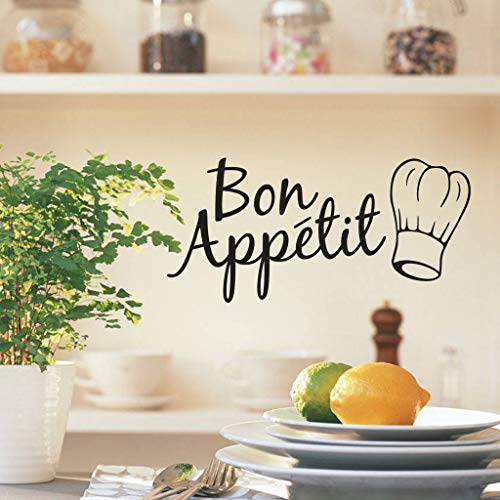 AIUSD Clearance , 1PC Vinyl Wall Stickers Quote Bon Appetit Dinning Room Decor Kitchen Decals Art