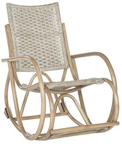 Antique Wicker Rocker - Safavieh Home Collection Bali Antique Grey Rocking Chair