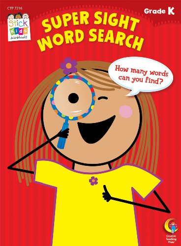 Super Sight Word Search Stick Kids Workbook, Grade K (Stick Kids Workbooks)