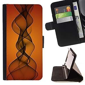 Momo Phone Case / Flip Funda de Cuero Case Cover - Orange Sunset Indian Music - Samsung Galaxy E5 E500