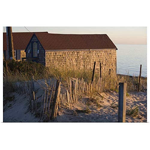 GREATBIGCANVAS Poster Print Entitled Beach Shacks, Cape Cod Bay, MA by 24