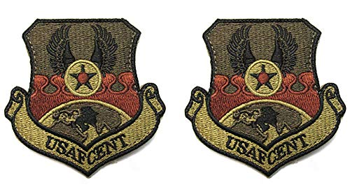 USAF Central Command USAFCENT OCP Spice Brown Patch with Hook Fastener-2 Pack