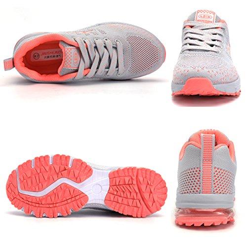 Sommerschuhe Damen Mädchen Ultra Schuhe Dämpfung Sportschuhe Leichte Laufschuhe Herren Sneakers mit Grau Rutschfeste Junge ZanYeing Oq4gwdWBO