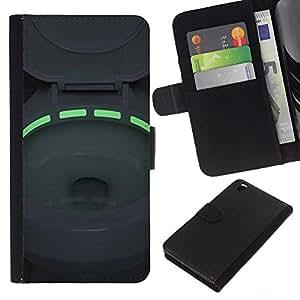 A-type (Toilet Green Neon Light Bowl) Colorida Impresión Funda Cuero Monedero Caja Bolsa Cubierta Caja Piel Card Slots Para HTC DESIRE 816