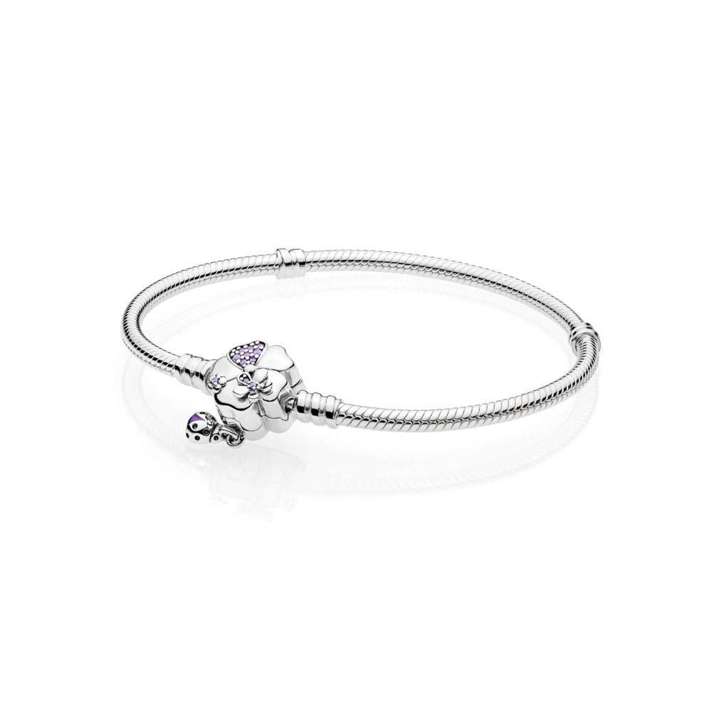 d2d9d011a Pandora Women Silver Charm Bracelet - 597124NLC-18: Amazon.co.uk: Jewellery