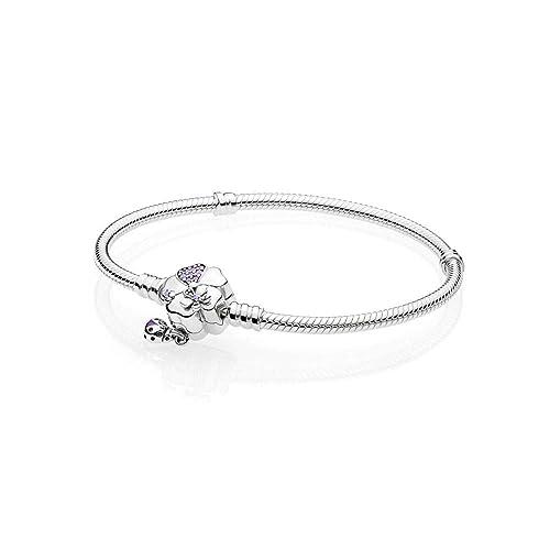 9e45694ad409a9 Pandora Bracciale con Charm Donna argento - 597124NLC-18: Amazon.it ...