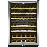 enfriador de vinos 4.4' 38 botellas 2 temperaturas