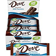 Dove 100 Calories Milk Chocolate Candy Bar 0.65-Ounce Bar 18-Count Box