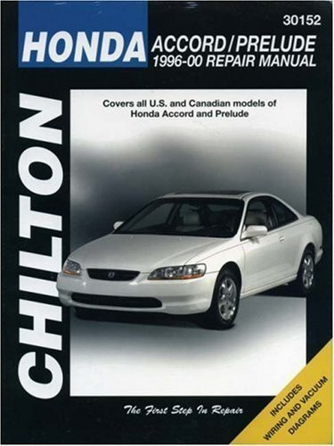 Honda Accord/Prelude 1996-00 (Chilton Total Car Care Automotive Repair Manuals) New Edition by Chilton, The Nichols/Chilton published by Haynes Manuals (Honda Prelude Manual)