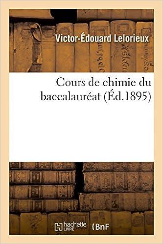 Livre gratuits Cours de chimie du baccalauréat epub, pdf