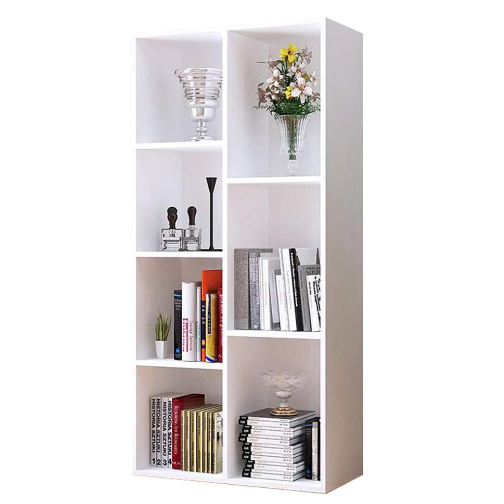 Bücherregal 7-Grid Modernes, Kinder Spielzeug Buchregal Regale, Organizer Lagerung, Dekor Display Möbel, für Home Office (weiß)