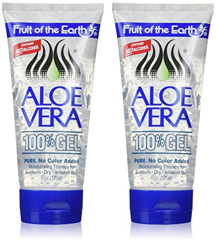Fruit of the Earth Aloe Vera 100% Gel - 6 oz (Pack (Georges Aloe Vera Lotion)