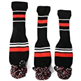 XCSOURCE 3x Golf Club Knitted Headcover Head Covers For Titleist Taylormade OS427