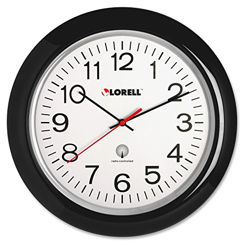 Clock Wall Lorell - Lorell Wall Clock with Arabic Numerals, 13-1/4-Inch, White Dial/Black Frame