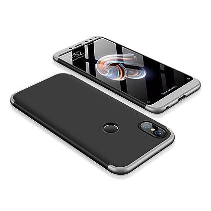 Funda para Xiaomi Redmi Note 5 Pro, Bigcousin Funda 360 grados Protección Ultra Slim Cubierta PC Hard Case + Cristal Templado ,3 in 1 Carcasa Case ...