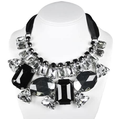 Wrapables Chunky Jewel Gem Bib Statement Necklace