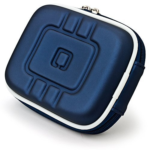 Limited Edition Dark Night Blue Eva Mini Hard Shell Lightweight Zipper Compact Carrying Protector Case For Canon PowerShot Series Point & Shoot Digital Cameras