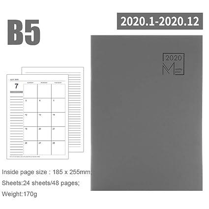 CXYBJB Cuaderno Calendario Planificador Mensual Meses ...