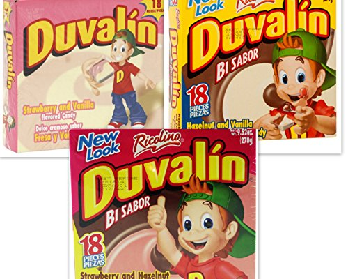 Duvalin Candy (Duvalin Candy Variety Bundle, 9.52 oz box (Pack of 3) includes 1-Box Strawberry & Hazelnut + 1-Box Hazelnut & Vanilla + 1-Box Strawberry & Vanilla (54 TOTAL CANDIES))