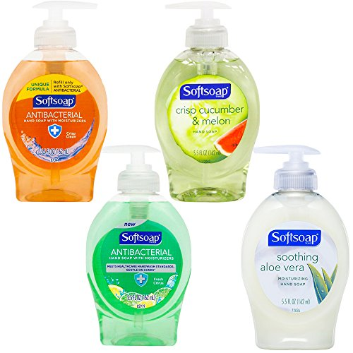 Softsoap Liquid Hand Soap Variety Set, 5.5 Ounce (4 Bottles)