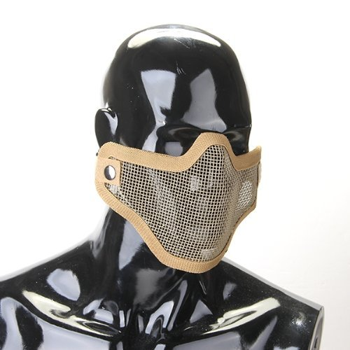2015 Hot Yellow Airsoft Paintball Half Face Tactical Mask Steel Mesh^. (Mexican Halloween Face Paint)