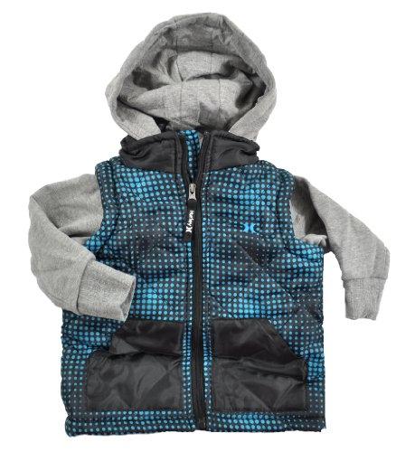 Hurley Infant Boys Black & Turquoise Polka Dot Hoodie Jacket