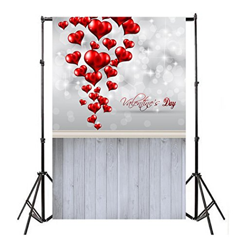 Face Book HOT !! Auwer 3x5FT Easter Vinyl Wood Wall Floor Photography Studio Prop Backdrop Background 3x5FT (F)