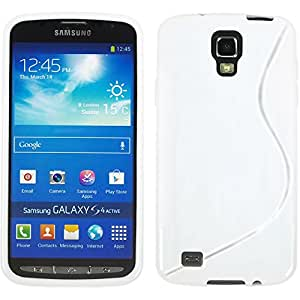 VCOMP Samsung Galaxy S4 Activo I9295/ I537 LTE: Cubierta de silicona gel patrón S-Line - BLANCO