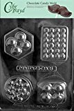 Cybrtrayd M170 4 Shape Massage Bar Chocolate Candy Mold With Exclusive