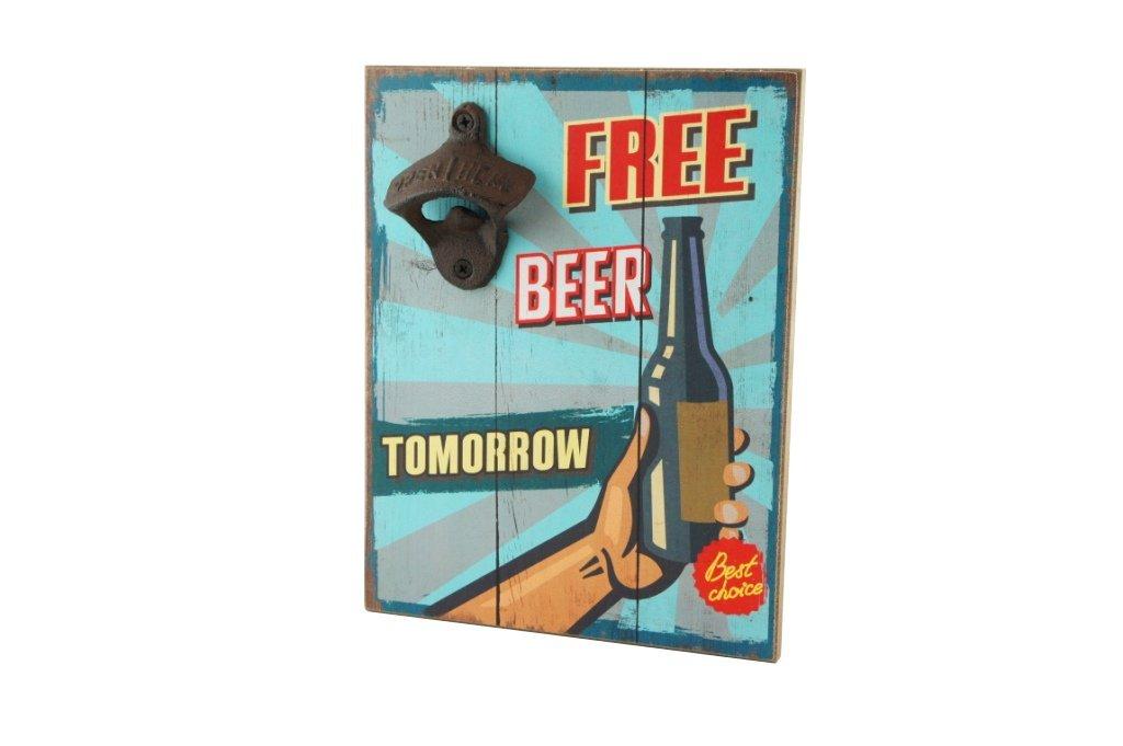 Pocket Money Plus Free Beer Tomorrow placca a Muro con apribottiglie