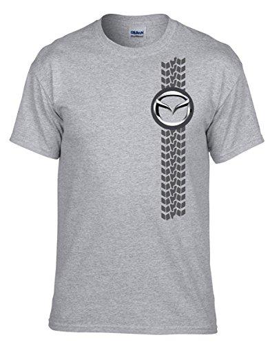 Mazda FUN AUTO Grau Fun T-Shirt -101 -Grau
